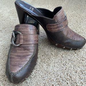 Stuart Weitzman heeled clogs